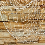 Decorative fish net WHITE 75-1319
